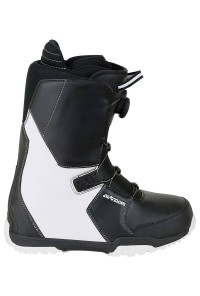 Snowboard Boots Savage White Atop Speed Lacing