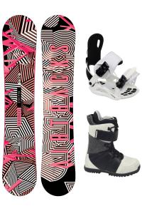 Damen Snowboard Komplett Set Stripes