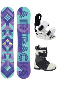 Damen Snowboard Set Cubo Rocker