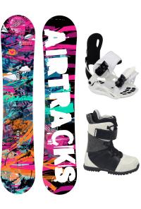 Damen Snowboard Set Graffiti Rocker