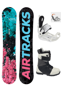 Damen Snowboard Set Polygonal Rocker