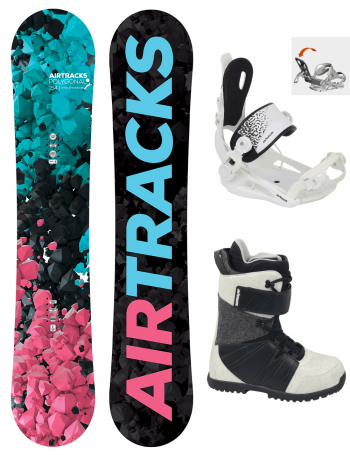 Damen Snowboard Set Polygonal Rocker