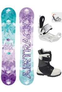 Damen Snowboard Set Akasha Rocker