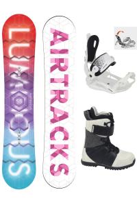 Damen Snowboard Set Luminous